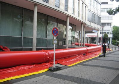 tube wall to protect buildings
